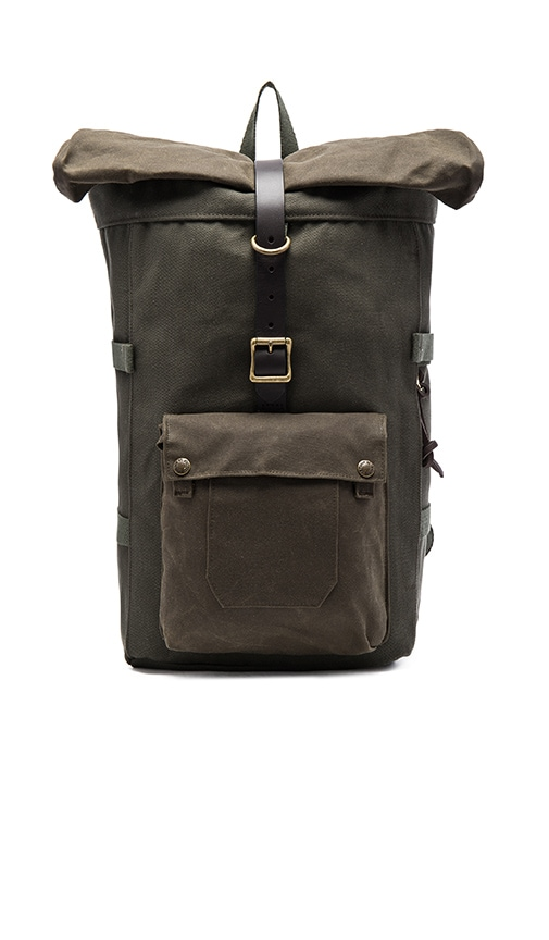 Filson Roll-Top Backpack in Army