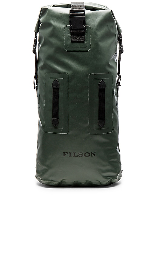 Filson Dry Duffle Backpack in Army
