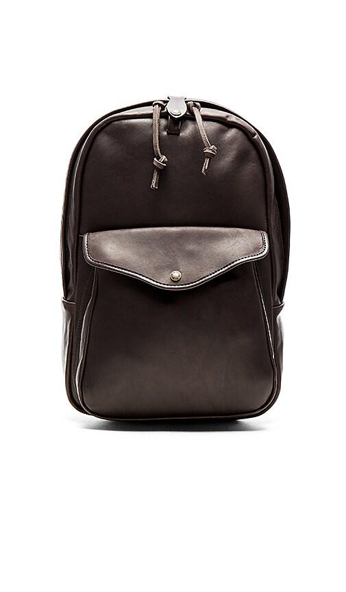 Filson Weatherproof Journeyman Backpack in Chocolate Brown