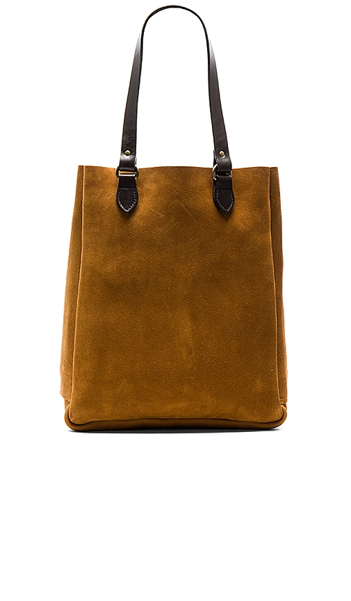 Filson Rugged Suede Tote in Cognac