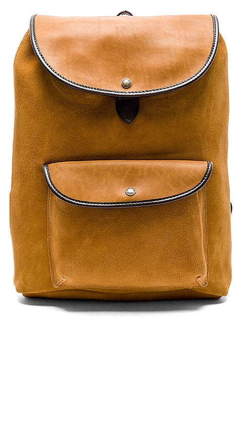 Filson Rugged Suede Backpack in Cognac