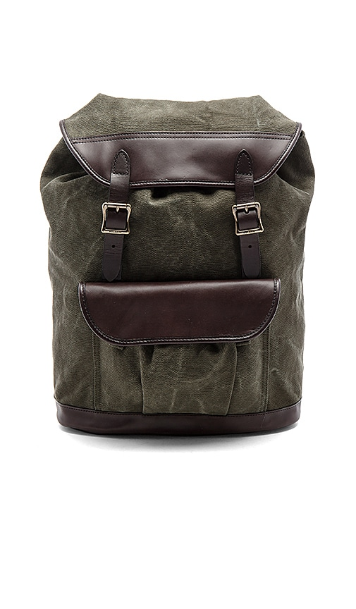 Filson Rugged Canvas Rucksack in Army