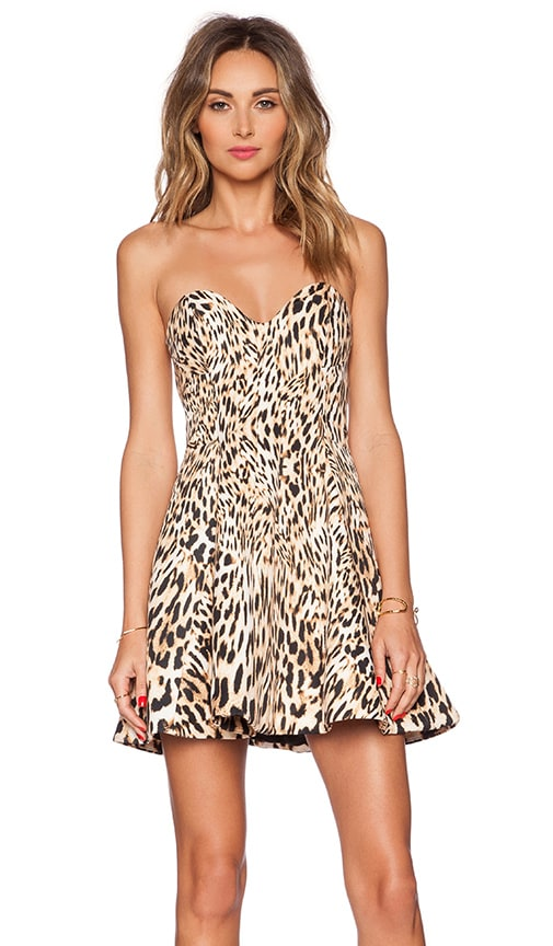 Finders Keepers Exist Outside Dress in Leopard Print