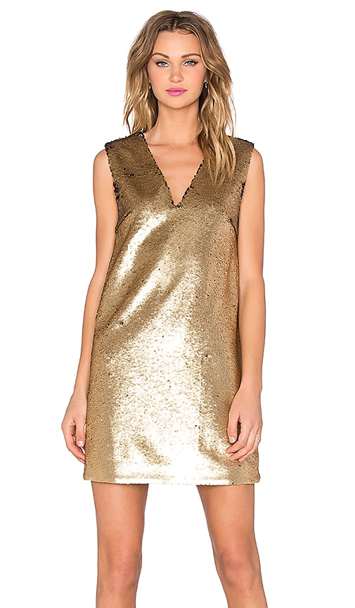 Finders Keepers The Runner Dress in Gold Sequin
