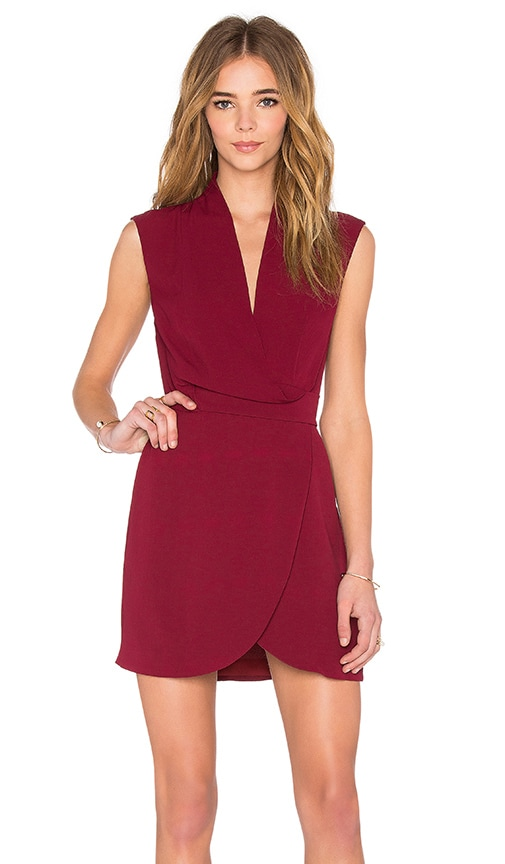 Finders Keepers Dreaming Of You Dress in Burgundy