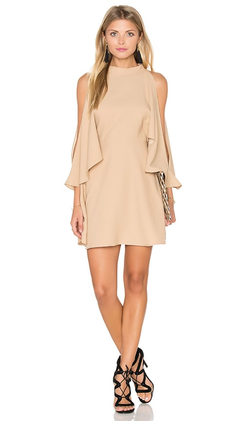 Finders Keepers Real Slow Dress in Beige