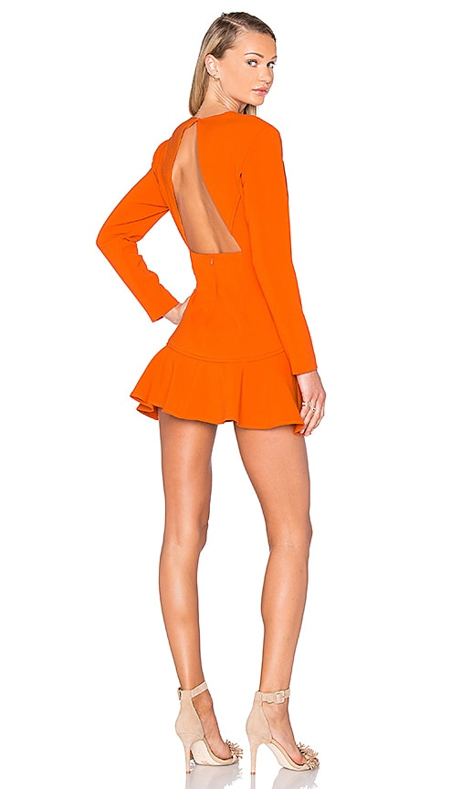 Finders Keepers Round Up Dress in Orange