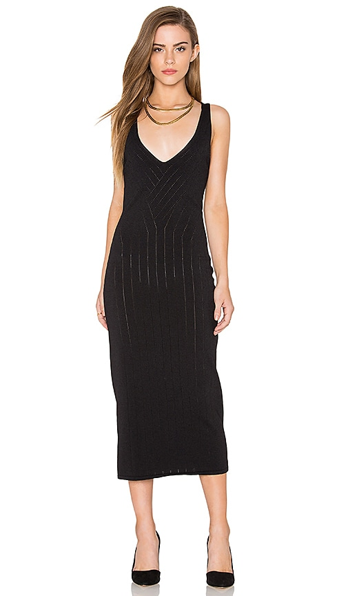 Finders Keepers Titanium Midi Dress in Black