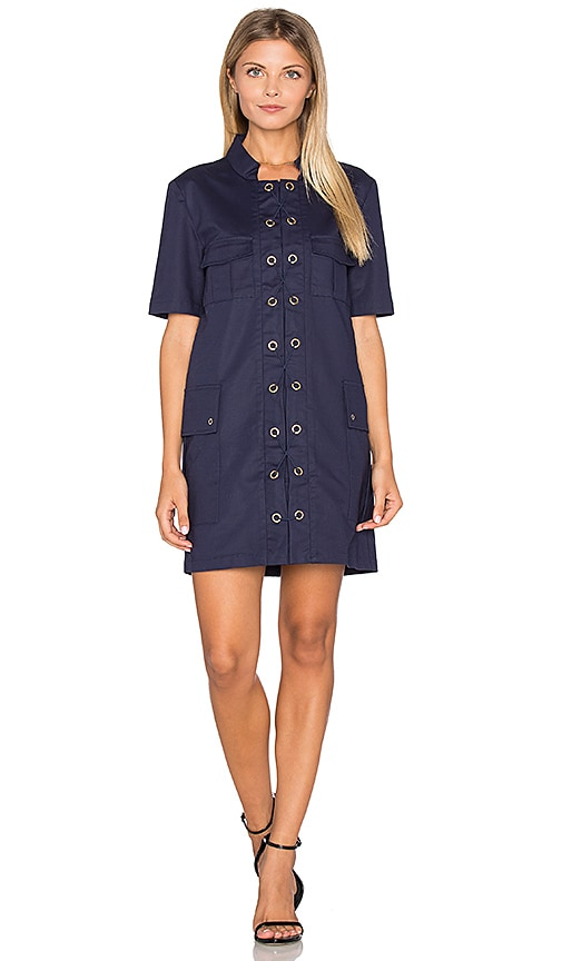 Finders Keepers Great Heights Mini Dress in Navy