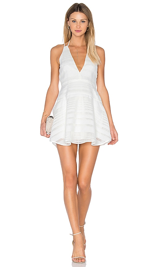 Finders Keepers Brixton Fit + Flare Dress in White
