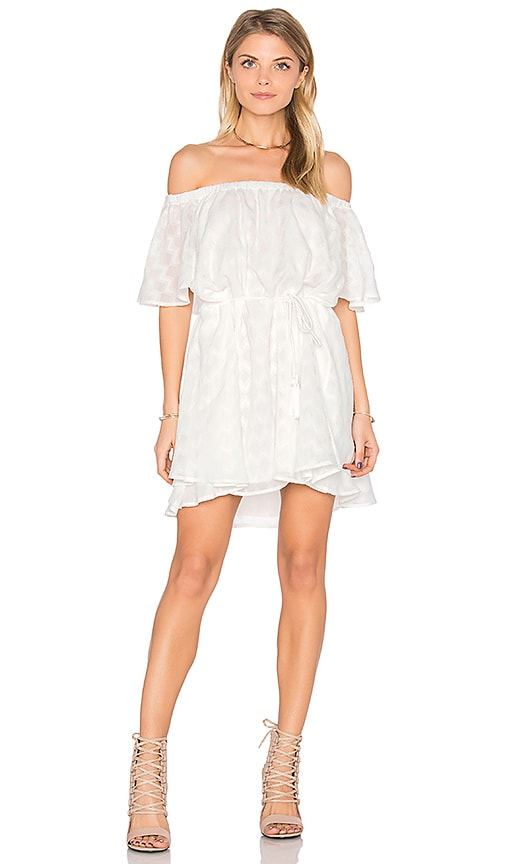 Finders Keepers Ascot Ruffle Dress in White