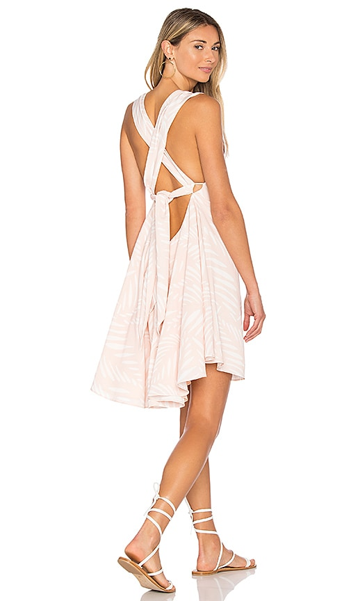 Finders Keepers I Spy Tie Back Dress in Peach