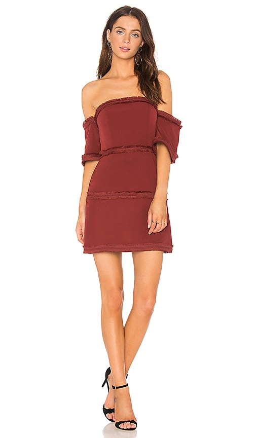 Finders Keepers Visions Mini Dress in Red