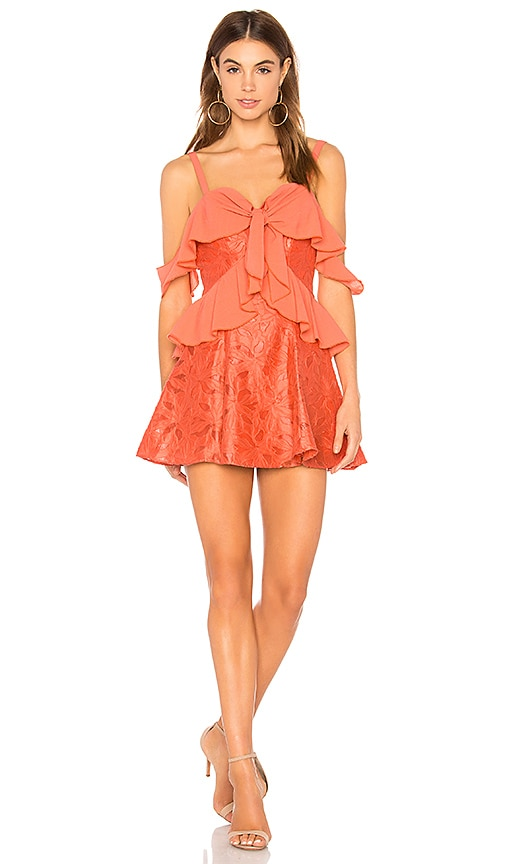 Finders Keepers Kindred Mini Dress in Coral