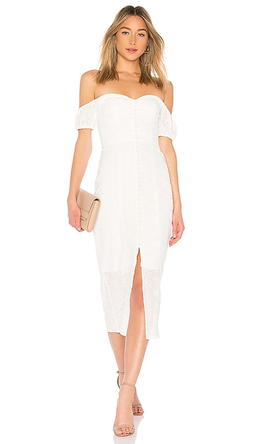 Finders Keepers Maella Midi Dress in Ivory