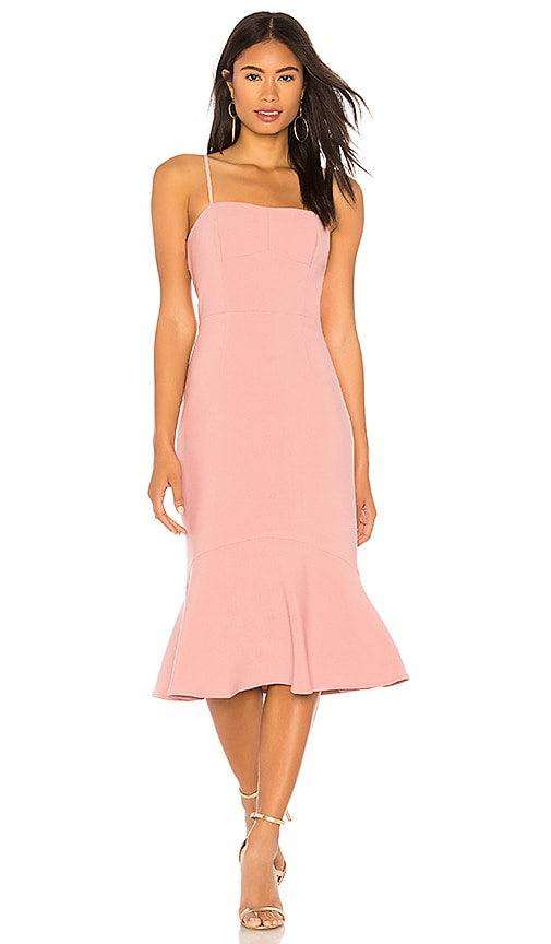 Finders Keepers Continuum Midi Dress in Rose