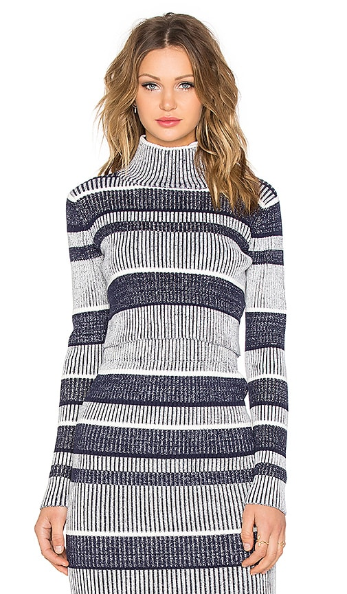Finders Keepers Never Catch Me Crop Sweater in Navy Stripe