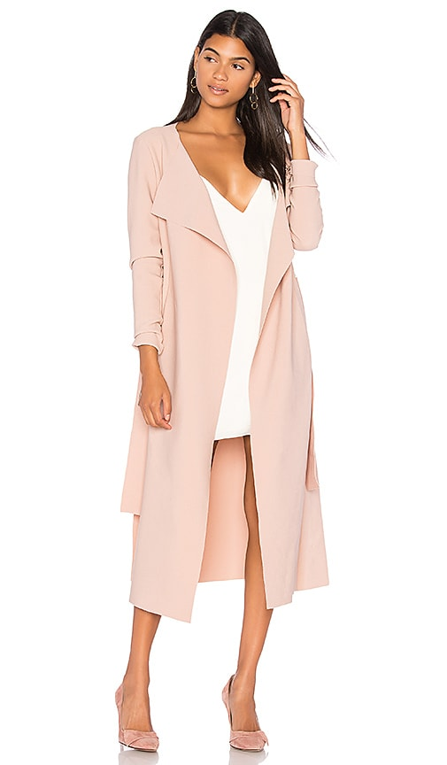 Finders Keepers Chances Coat in Soft Pink  d7bd6c38d