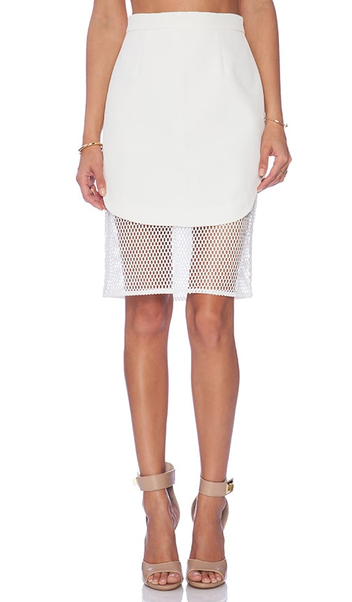 dcb9e1ef7b6395 Finders Keepers Fatal Attraction Mesh Slip Skirt in White