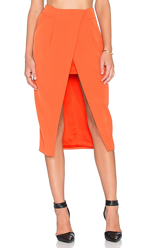 Finders Keepers Sweet Talker Skirt in Terracotta