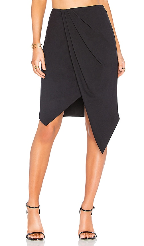 Finders Keepers Henson Wrap Skirt in Black