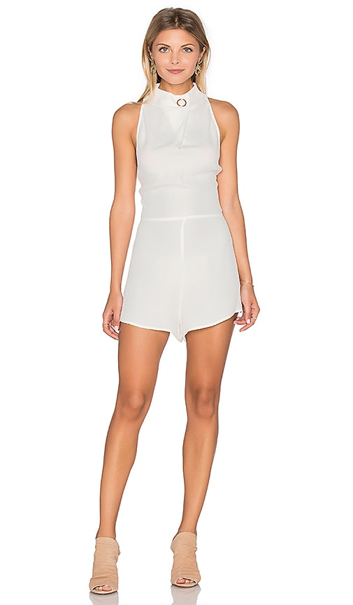 Finders Keepers Great Heights Romper in White