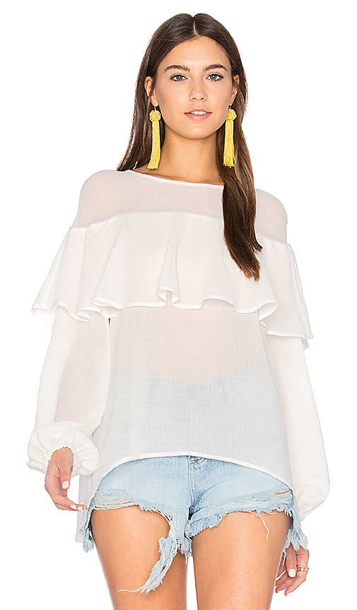 Finders Keepers Boyd Blouse in White