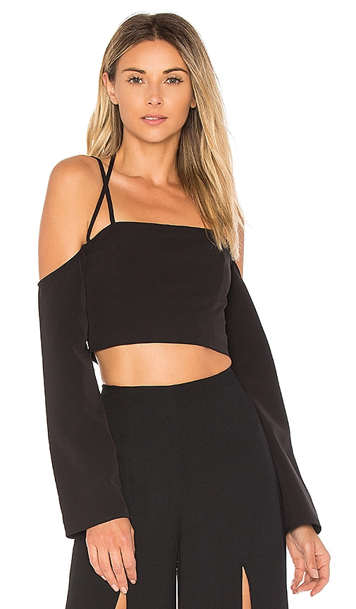 Finders Keepers Mirror Image Top in Black