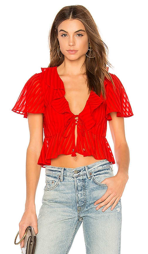 Finders Keepers Arcadia Top in Red