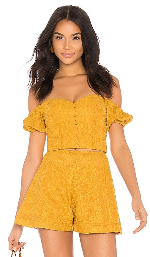 Hot Finders Keepers Maella Top in Marigold hot sale