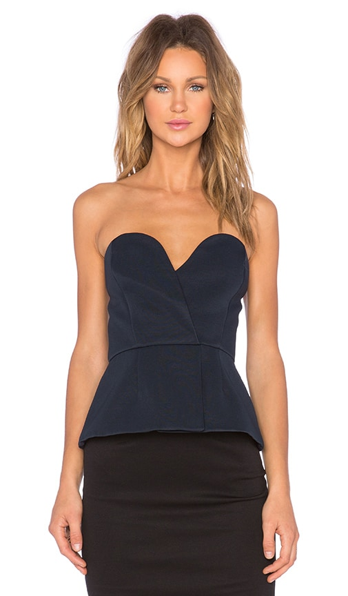 Finders Keepers Deirium Bustier Top in Blueberry