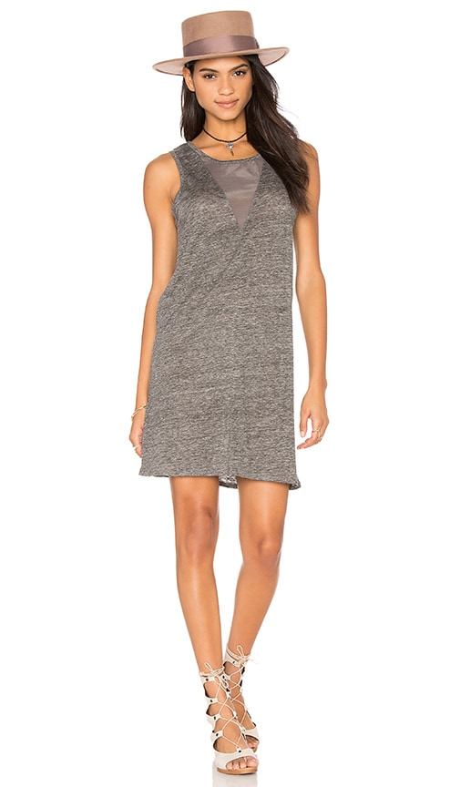 Fine Collection Tank Dress in Gray