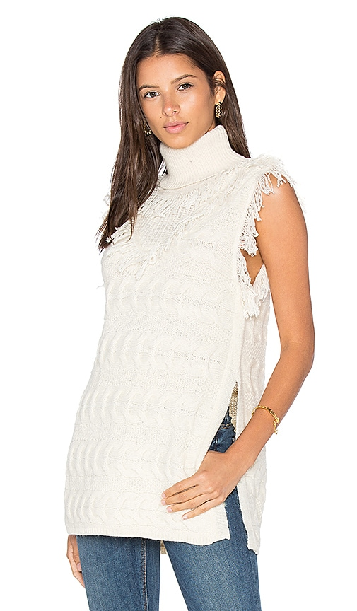 Fine Collection Daphne Sleeveless Sweater in Ivory