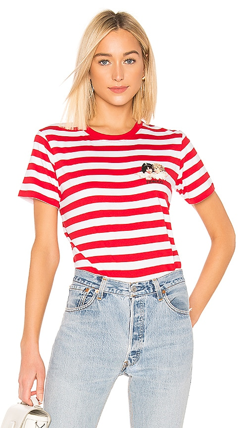 Iconic Stripes Tee with Angels