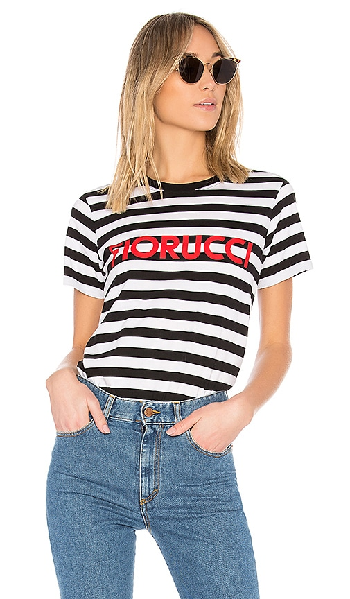 FIORUCCI Stripe Classic Tee in Black & White