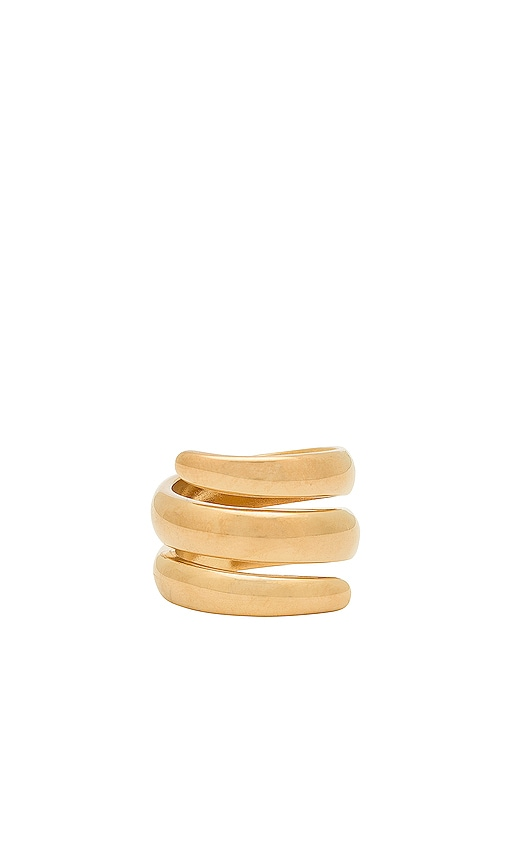 Five and Two Jess Wrap Around Ring in Metallic Gold