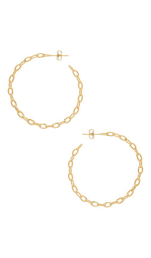 Five and Two Alicia Hoops in Gold