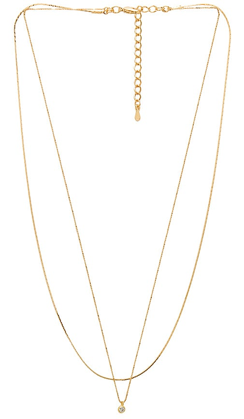 Five and Two Madison Necklace in Gold