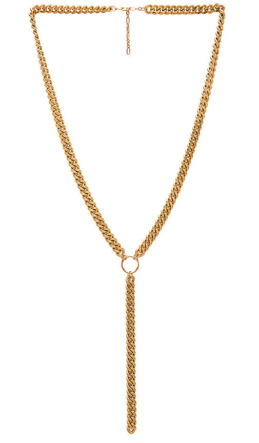 Five and Two Dante Necklace in Brass