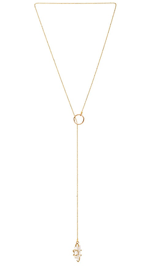 Five and Two Tavi Necklace in Metallic Gold