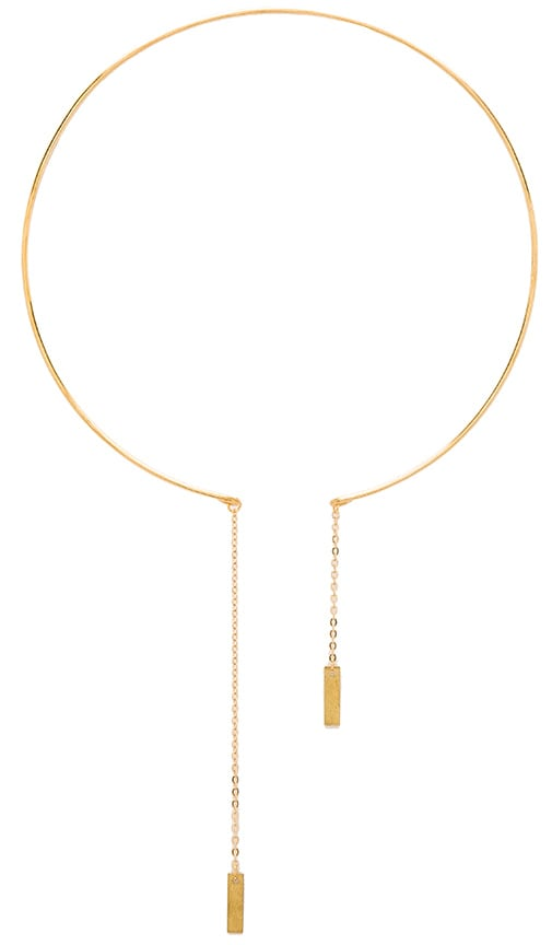 Five and Two Muse Choker Necklace in Brass