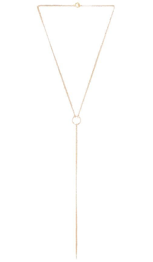 Five and Two Nina Chain Necklace in Metallic Gold