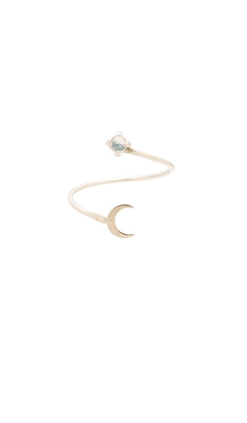 Five and Two Orion Ring in Silver & Opal