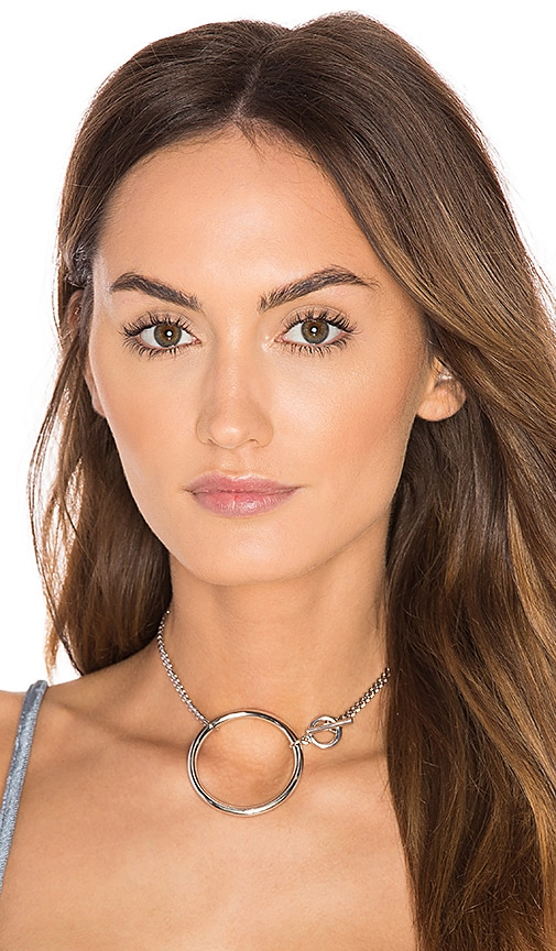 Five and Two York Convertible Choker & Bracelet in Metallic Silver