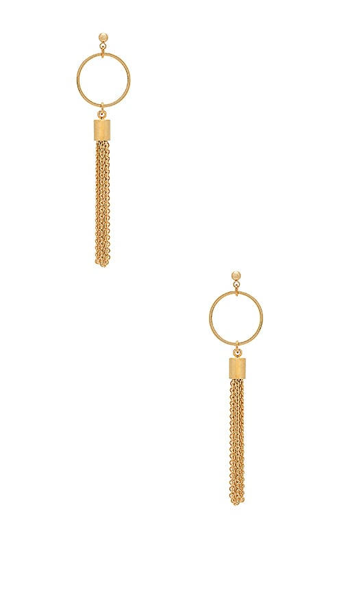 Five and Two Devon Earring in Metallic Gold