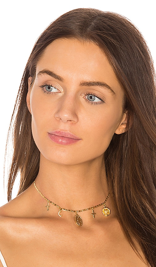 Five and Two Alejandra Choker in Metallic Gold