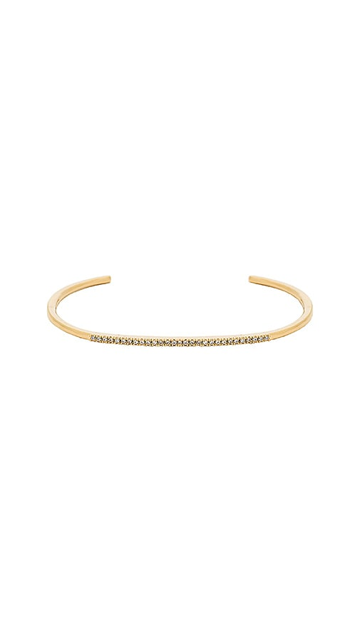Five and Two Fara Bangle in Metallic Gold