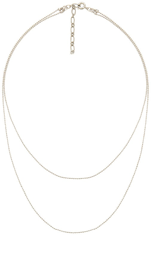 Five and Two Camille Necklace in Metallic Silver
