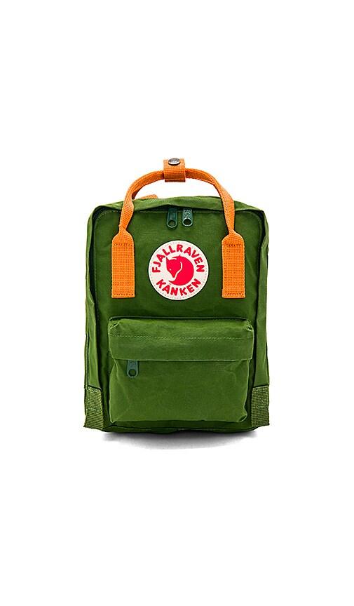 Fjallraven Kanken Mini in Leaf Green   Burnt Orange  9a4cc4ce87030