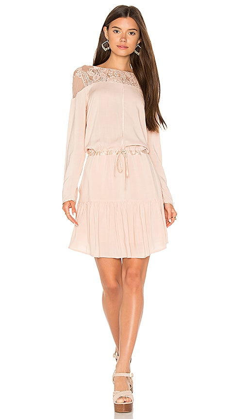 Flannel Australia Heirloom Shift Dress in Blush